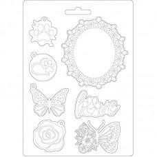 Форма для мягких моделирующих паст Круговорот любви - рамки с бабочками