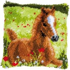 Набор для вышивания подушки Резвый жеребенок