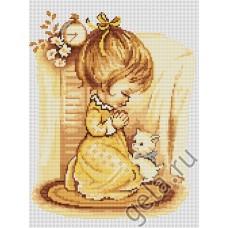 Набор для вышивания,Мольба девочки, Luca-S