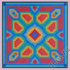 NP Набор для вышивания, подушка  Геометрические цветы