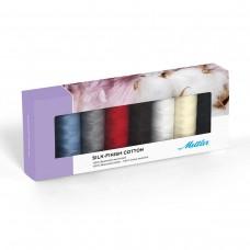 Набор с нитками Silk Finish  в подарочной упаковке, 8 катушек