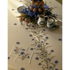 Набор для вышивания, скатерть Васильки