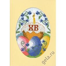 Набор для вышивания, открытка Воскресение Христово