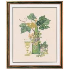 Набор для вышивания Белое вино, лён 26 ct