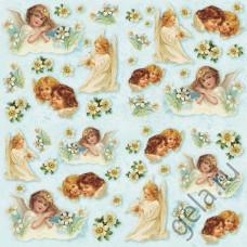 Салфетка рисовая Ангелы девочки