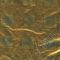Фольга для золочения в листах, рисунок квадраты