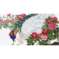 Набор для вышивания, Павлины в цветах, Luca-S