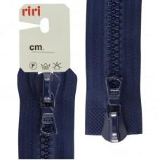 Молния riri тракторная разъёмная 2 замка, 8 мм, 75 cм, цвет 2626, кобальт синий