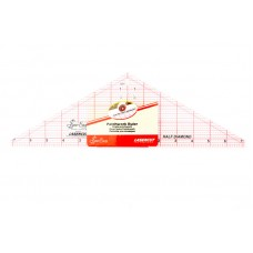 Линейка-треугольник с углом 120*, градация в дюймах, размер 14 1/2 x 4 1/2