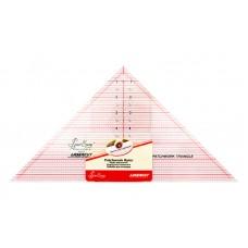 Линейка-треугольник с углом 90*, градация в дюймах, размер 7 1/2 x 15