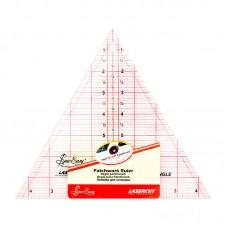 Линейка-треугольник с углом 60*, градация в дюймах, размер 8 х 9 1/4