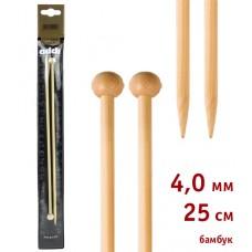 Спицы прямые, бамбук, №4, 25 см