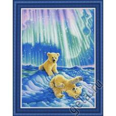 Набор для вышивания Медвежата в северном сиянии