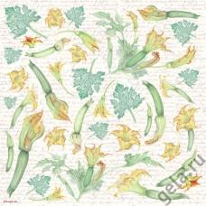 Салфетка рисовая Белые орхидеи