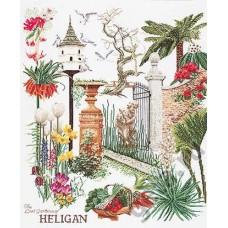 Набор для вышивания Хелиган сада, канва лён 36 ct
