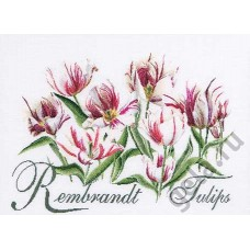 Набор для вышивания Рембрандт, Тюльпаны, канва лён 32 ct