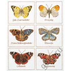Набор для вышивания Бабочки, канва лён 32 ct