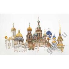 Набор для вышивания Санкт-Петербург, канва аида 18 ct