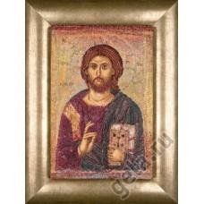 Набор для вышивания Христос Вседержитель, канва аида 18 ct