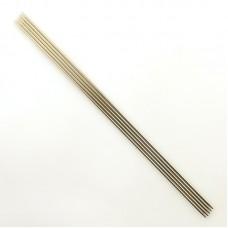 Спицы, чулочные из никелированной стали, №3, 20 см. 5 шт