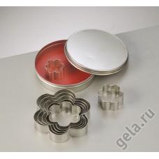 Набор металлических формочек Цветочки, диаметр 10 см