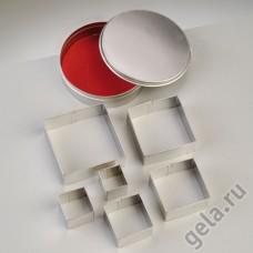 Набор металлических формочек Квадраты, диаметр 10 см