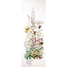 Набор для вышивания Полевые цветы, канва лён 32 ct