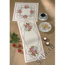 Салфетка Розы, набор для вышивания