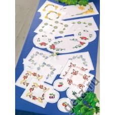 Набор для вышивания, скатерти и салфетки