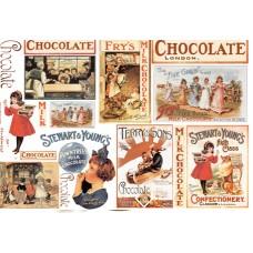 Бумага рисовая Шоколад карты