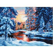 Набор для вышивания , Зимний закат, Luca-S