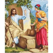 Набор для вышивания, Иисус и самаритянка, Luca-S