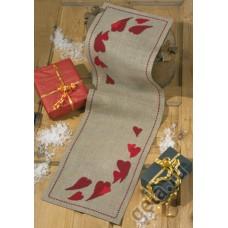 Набор для вышивания дорожка Рождественское сердце