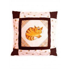 Набор для вышивания, наволочка для подушки Уютный кот