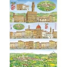 Карта для декупажа Флоренция