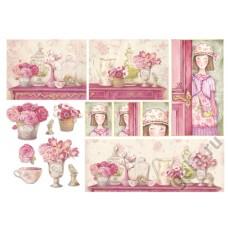 Бумага рисовая Розовый дом