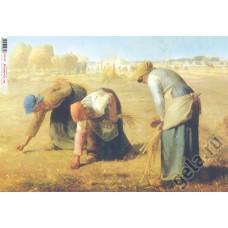 Бумага рисовая Сборщицы колосьев Ж. Милле