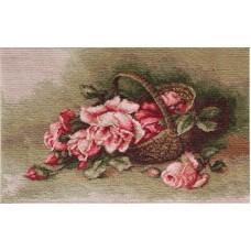 Набор для вышивания Корзина с розами, Luca-S