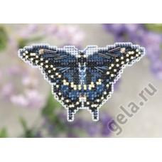 Набор для вышивания бисером Черная бабочка-парусник