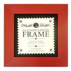 Рамка деревянная цвет красный
