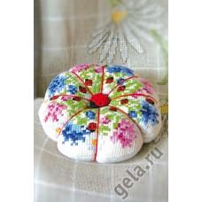 Набор для вышивания игрушки Цветочная тыковка