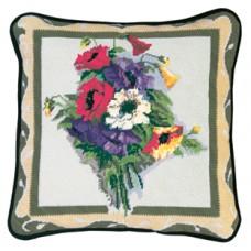 NP Набор для вышивания, подушка  Викторианские маки