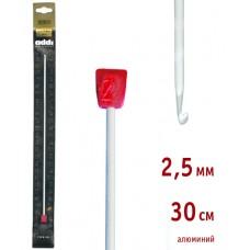 Крючок вязальный,Тунисский, алюминий, №2,5, 30 см