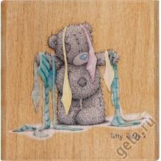 Штамп деревянный Весь в галстуках