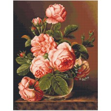 Набор для вышивания Розы в вазе, Luca-S