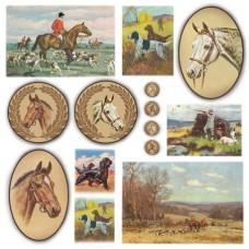 Салфетка рисовая Лошади