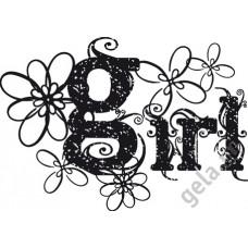 Деревянный штамп Надпись Girl