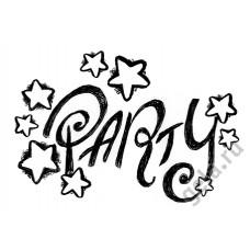 Деревянный штамп Надпись Вечеринка