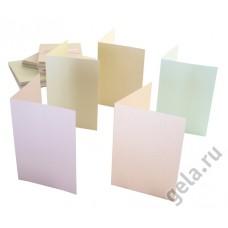 Набор заготовок для открыток с конвертами формат А6 50 шт