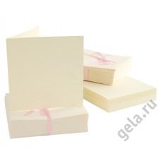 Набор заготовок для открыток с конвертами 100 шт